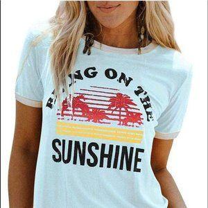 """Bring On The Sunshine"" Blue T-Shirt"